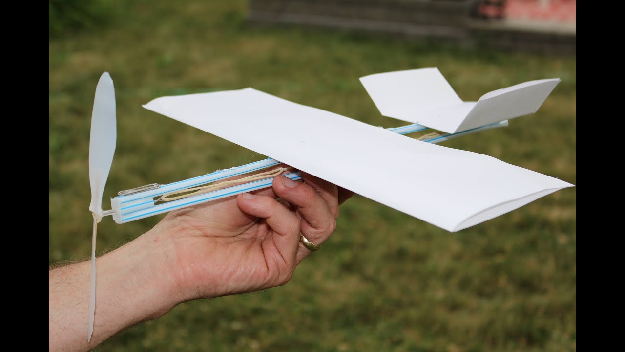 Paper Airplane Diagram Of Parts 2003 Toyota Corolla Ac Wiring How To Make A Rubber Band Plane Out Very Easy Youtube