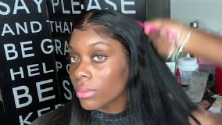 LOW HAIRLINE install a frontal without glue | sewing machine wig | Part 3