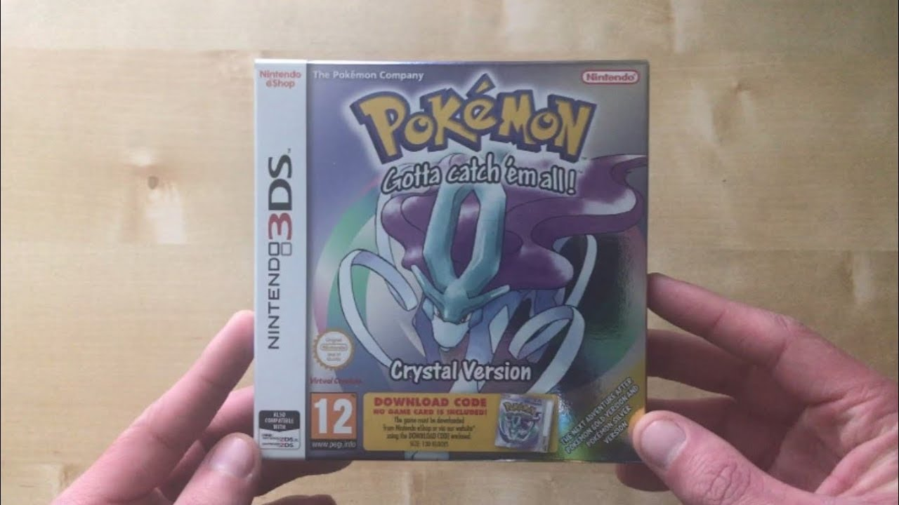 Unboxing Pokemon Crystal 3DS Retail Package Download Code (UK) - YouTube