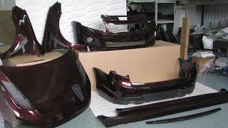 Сборный комплект для а/м Гранта (седан).Цвет №192 Портвейн+Черный матовый.