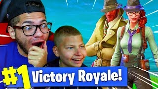 USING JAYDEN TO WIN A GAME OF FORTNITE BATTLE ROYALE! *NEW* SKINS ARE WILD! (MUST WATCH) | MindOfRez