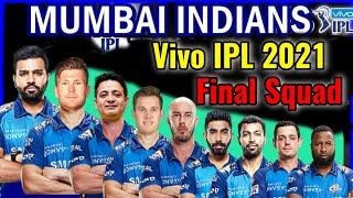 Vivo IPL 2021 Mumbai Indians Final Squad   Mumbai Indians Full Squad   MI Team Players List 2021