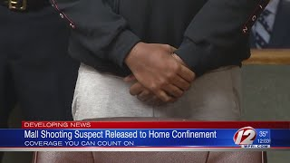 Mall shooting suspect released to home confinement