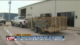 Thief steals $28,000 in lawn equipment from Tulsa business, caught on newly purchased cameras