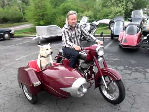 Jawa 350/duna sidecar Blue Moon Cycle - YouTube