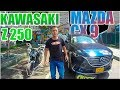 Mazda CX9 VS Kawasaki Z250 ?? Cuarto de Milla