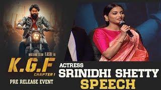 Actress Srinidhi Shetty Speech @ KGF Movie Pre Release Event