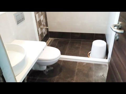 Modern Bathroom design//bathroom tiles accessories highliter washbasin and shower design !