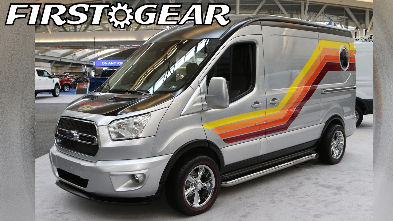 "First Gear - Custom 2016 Ford Transit - WyoTech ""Shagadelic Cruisin' Van"" - YouTube"