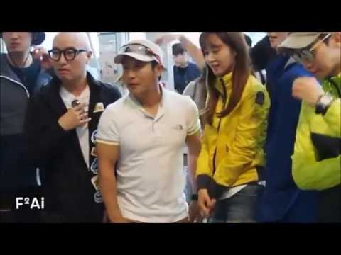 SNSD Kwon Yuri and Kim Youngkwang airport moments