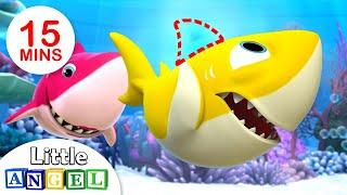 Bebê Tubarão em Cadê Minha Barbatana? (Baby Shark) | + Vídeos Infantis | Little Angel Português