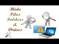 Hide Files, Folders & Drives || T-ignite