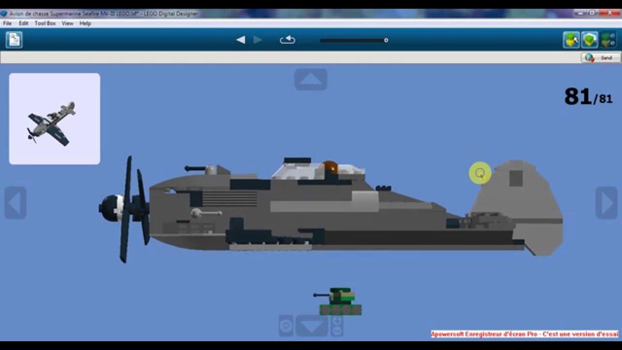 Avion de chasse supermarine saefire mk iii lego youtube - Avion de chasse en lego ...