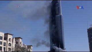 Chưa rõ nguyên nhân cháy khách sạn ở Dubai