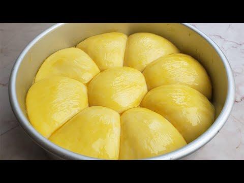 苹果面包,不用烤箱,不用揉膜,柔软香甜,出锅就抢光