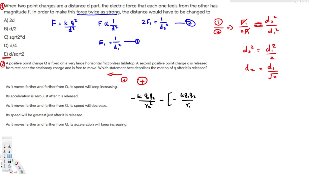 Physics Electric Charge And Field Examples 1