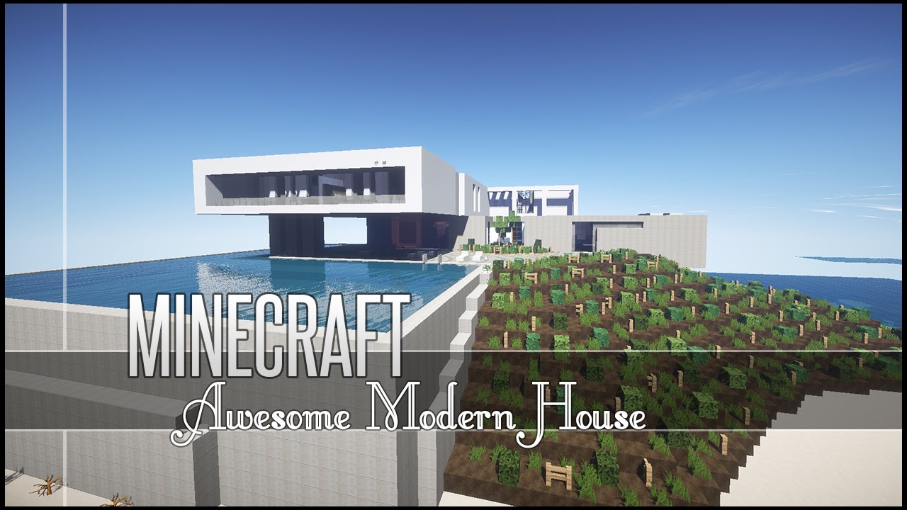 Minecraft Build Review - Awesome Modern House - YouTube