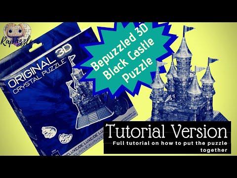 Bepuzzled 3D Crystal Puzzle- The Black Castle- Tutorial Version