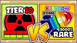 TIER 10 TOWER VS THE RAREST 2000% RAINBOW ZOMG EVER | Bloons TD Battles Hack/Mod (BTD Battles)