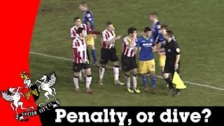 Penalty, or dive? Controversial decision | Exeter City v Morecambe