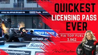 Ida Zetterström - Quickest FIA Top Fuel licensing run EVER - 3.8622s