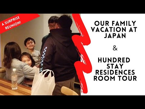 HUNDRED STAY RESIDENCES ROOM TOUR SHINJUKU & A FAMILY SURPRISE | Japan Day 1