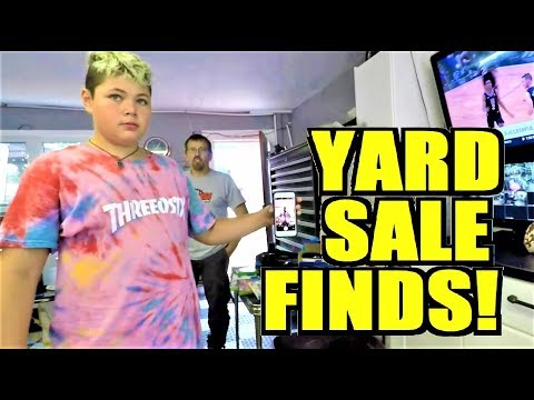 Ep262: FASHIONABLE FINDS - GARAGE SALE WITH US! - The ORIGINAL GoPro Yard Sale Vlog!