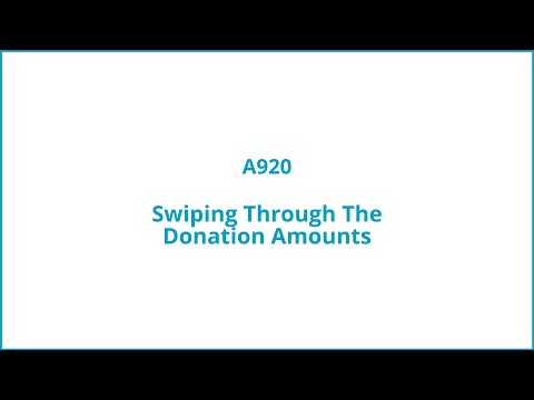 Swiping through the donation amounts