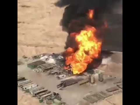 Oil drilling rig No#95( National Iranian Oil Company) was destroyed by oil fire,two days ago