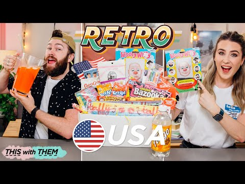 Trying Retro American Candy - This With Them