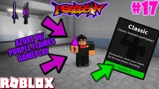 ROBLOX | ASSASSIN: CLASSIC #17 (AZURE WITH PURPLE FLAMES GAMEPLAY) *BROKEN GAME?*