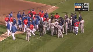 Batter gets hit, almost leading to fight in game between Mets, Yankees minor league teams