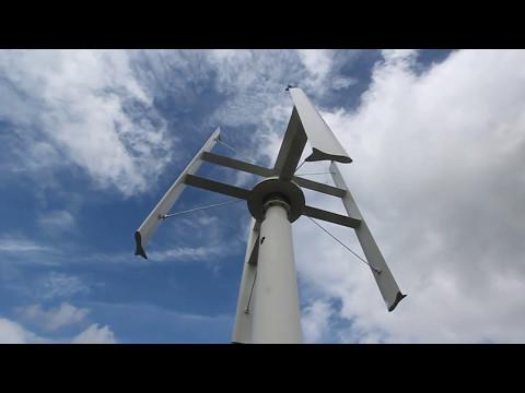 Vertical axis wind turbine at catterpilar Dublin