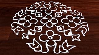 Video Easy Muggulu: Simple & Beautiful Rangoli Design for Floor Art | 14x6 to 6 dots  #414 download MP3, 3GP, MP4, WEBM, AVI, FLV Juli 2018