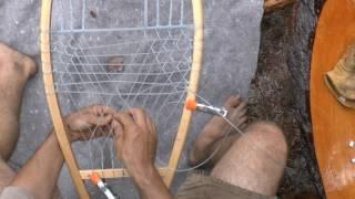 Snowshoe Weaving Part 6: Centre Weaving the Body