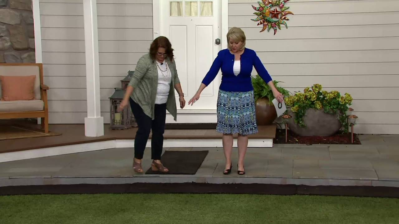 Plow Hearth 6 Ft Faux Rubber Mulch Permanent Pathway On Qvc