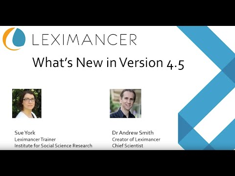What's New in Leximancer V4.5