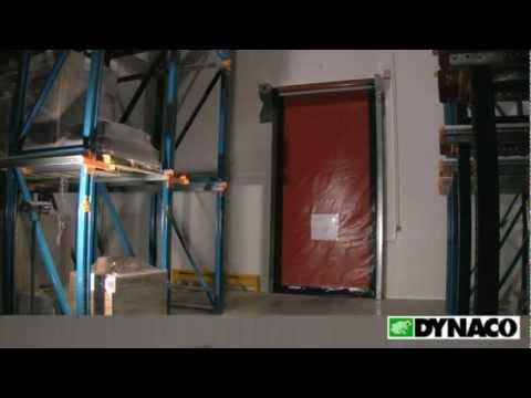 видео: dynaco в морозильнике, скоростные рулонные ворота