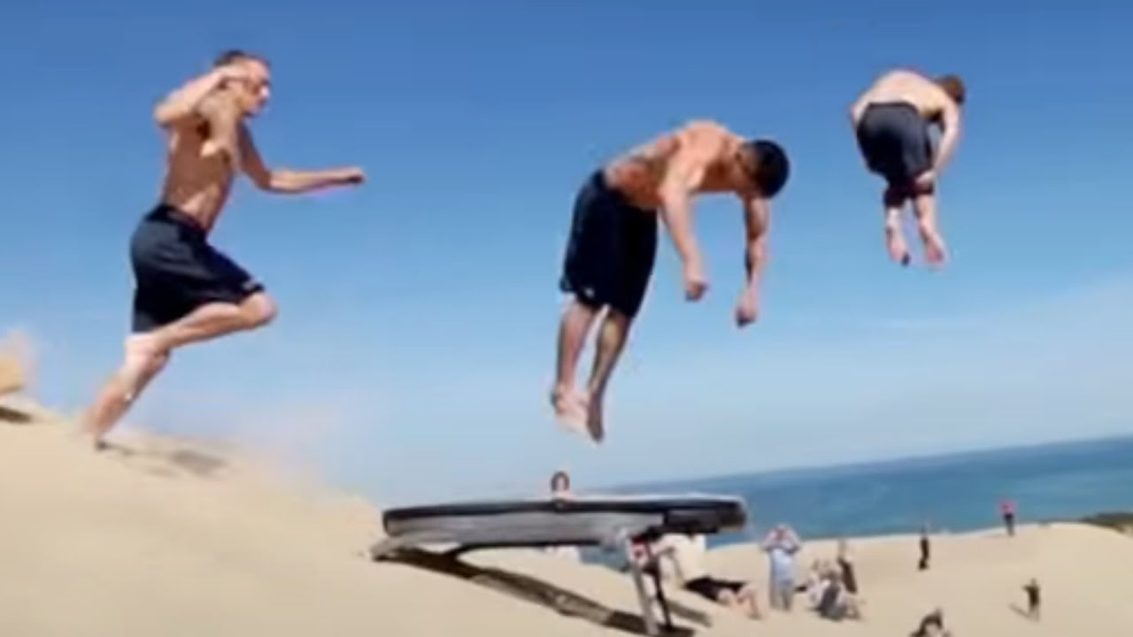 People Are Awesome Best Trampoline Tricks Edition Youtube