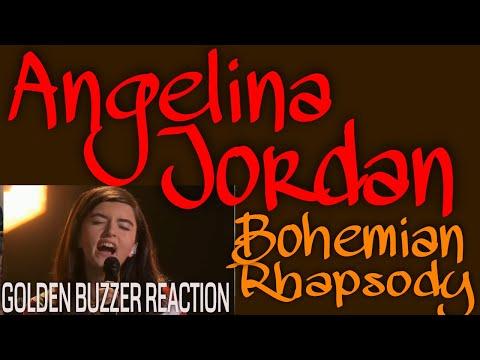Angelina Jordan - Bohemian Rhapsody (Queen Cover) Reaction- AGT GOLDEN BUZZER!!!