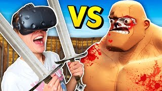 GORN - BRAND NEW GLADIATORS IN VIRTUAL REALITY! (GORN VR HTC Vive Funny Gameplay)