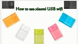 xiaomi usb wireless adapter wifi router
