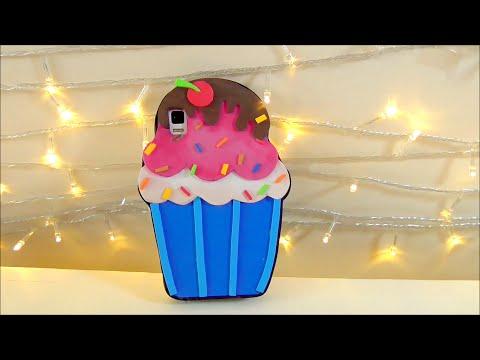 DIY crafts: cupcake mobile case EVA foam - Isa ❤️