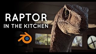 Raptor in the Kitchen | Blender 2.8 Animation & Shot Breakdown