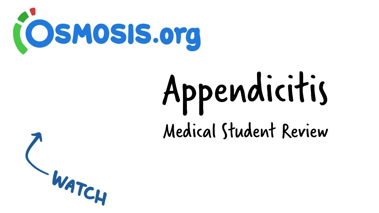 Appendicitis | clinical presentation youtube.