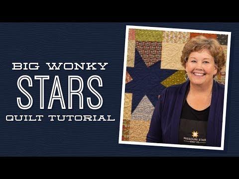 "Make a ""Big Wonky Stars"" Quilt with Jenny Doan of Missouri Star (Instructional Video) להורדה"
