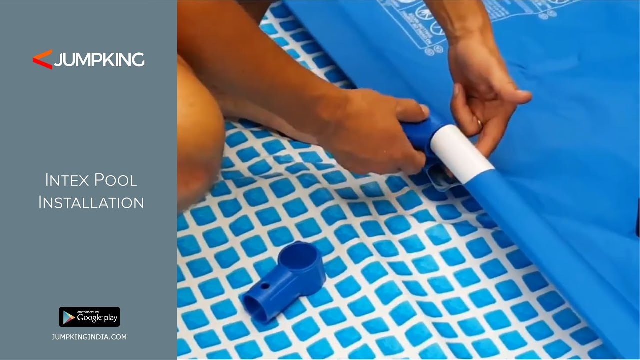 Intex Rectangular Prefab Ready-made swimming Pool installation - YouTube