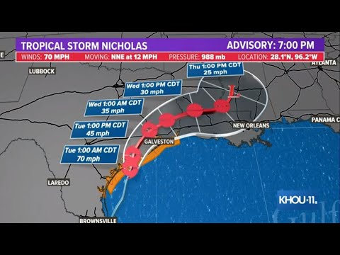 Tropical Storm Nicholas update: The latest on the timeline and how much rain to expect