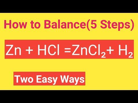 Zn + HCl =ZnCl2+ H2 Balanced Equation ||Zinc And Hydrochloric Acid Balanced Equation
