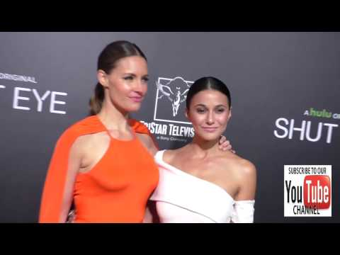 KaDee Strickland and Emmanuelle Chriqui at the Premiere Of Hulu's Shut Eye at ArcLight Theatre in Ho